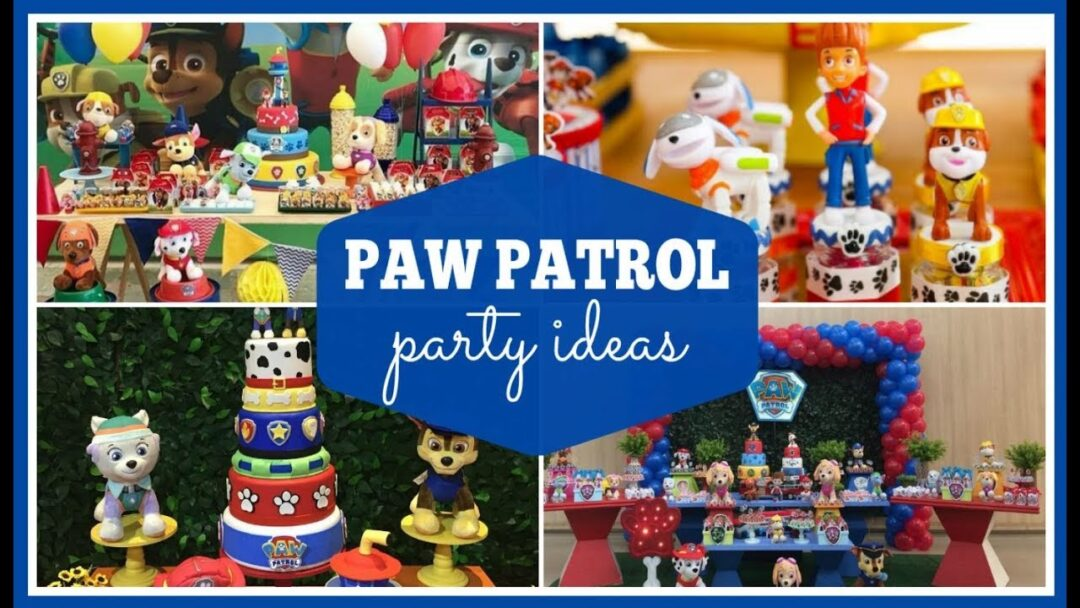 Paw Patrol Party Supplies and Ideas