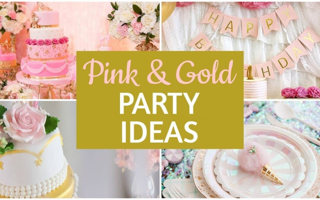 Pink & Gold Party Supplies