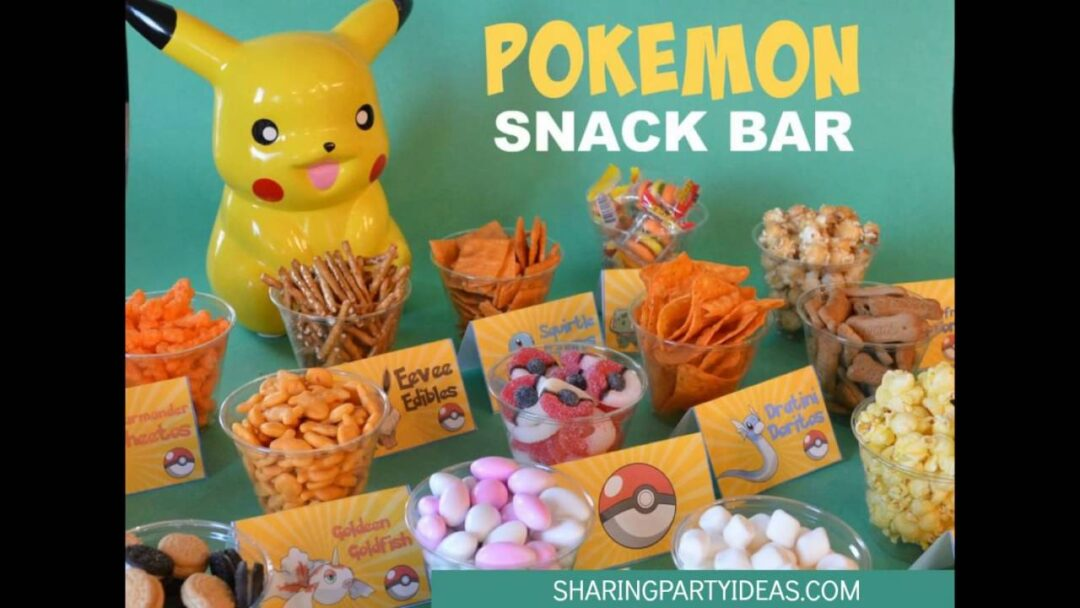 Pokemon Food Cards Snack Bar