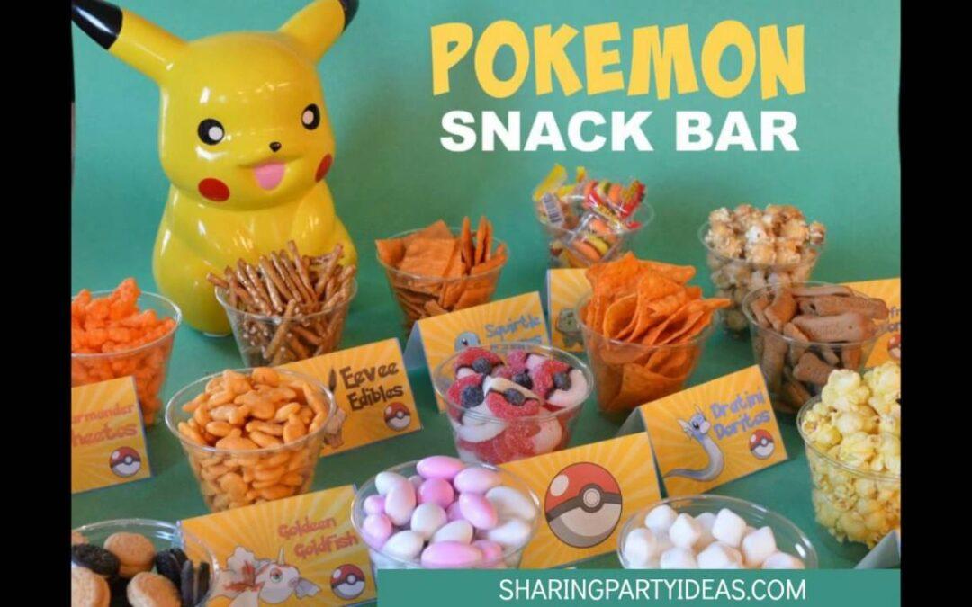 Pokemon Food Cards Snack Bar
