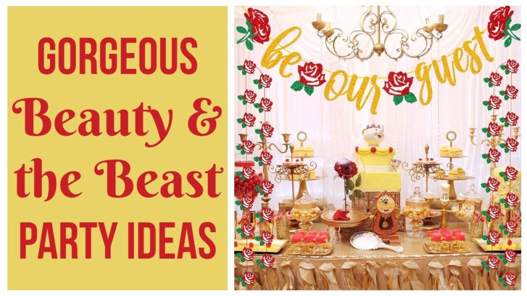 Beauty & the Beast Party Printables and Ideas