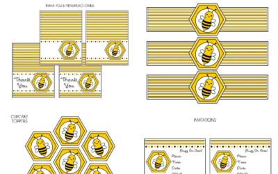 BumbleBee Party Printable Set