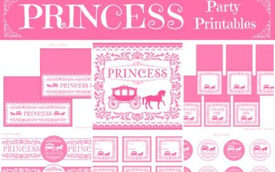 Princess Birthday Party Printables