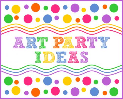 Colorful Art Party Ideas