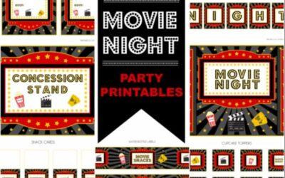 Movie Night Party Printables