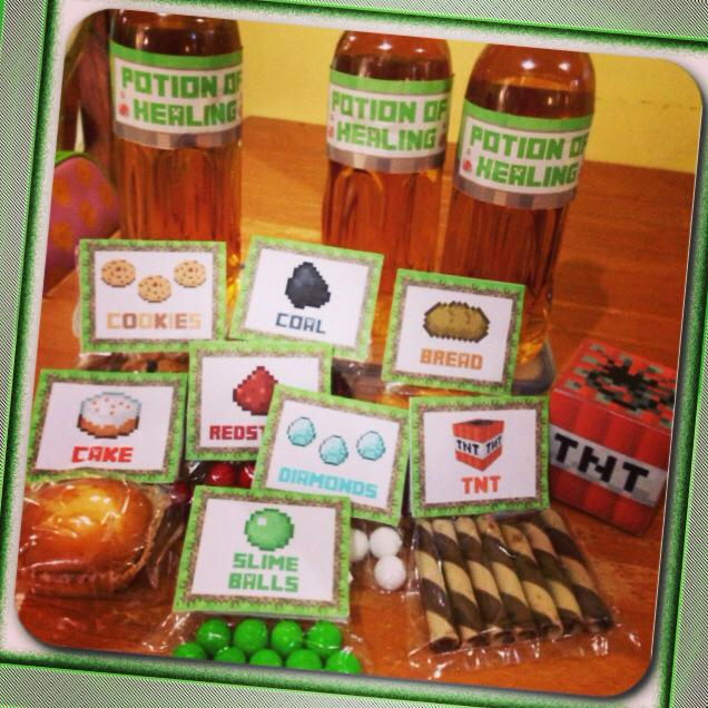 Minecraft Party Foods