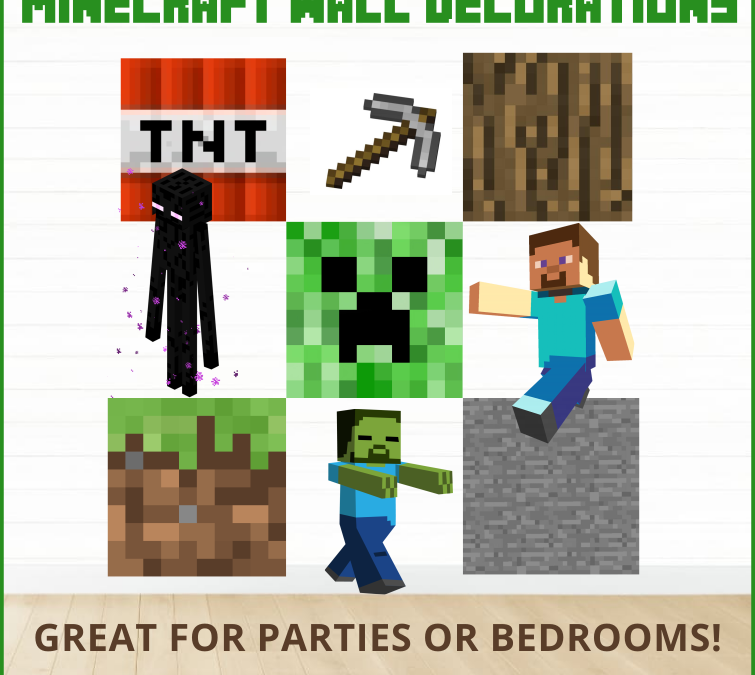 Minecraft Printable Party or Bedroom Wall Decor