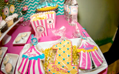 Teal and Pink Circus Party