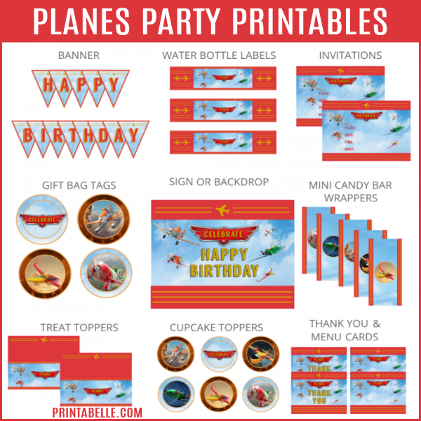 Planes: Fire & Rescue Party Printables