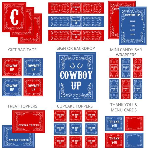 Cowboy Birthday Party Printables