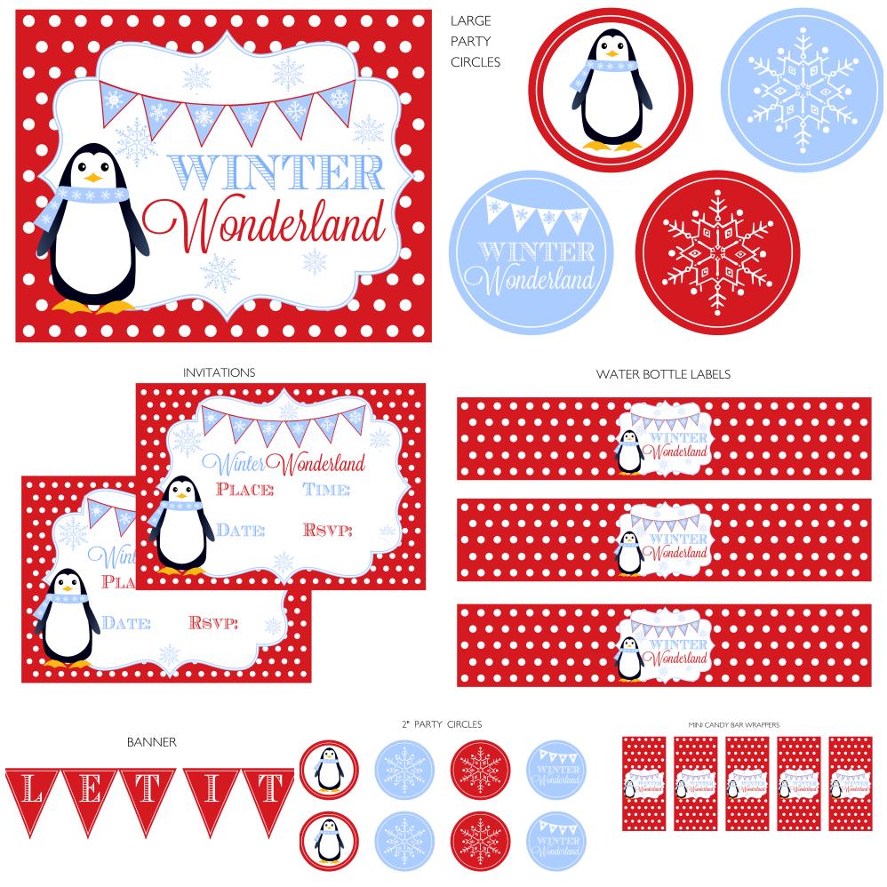Winter Wonderland Printable Set Printabelle