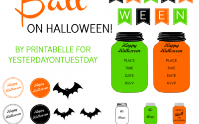 Halloween Mason Jar Printables
