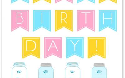 Free Birthday in  a Jar Printables