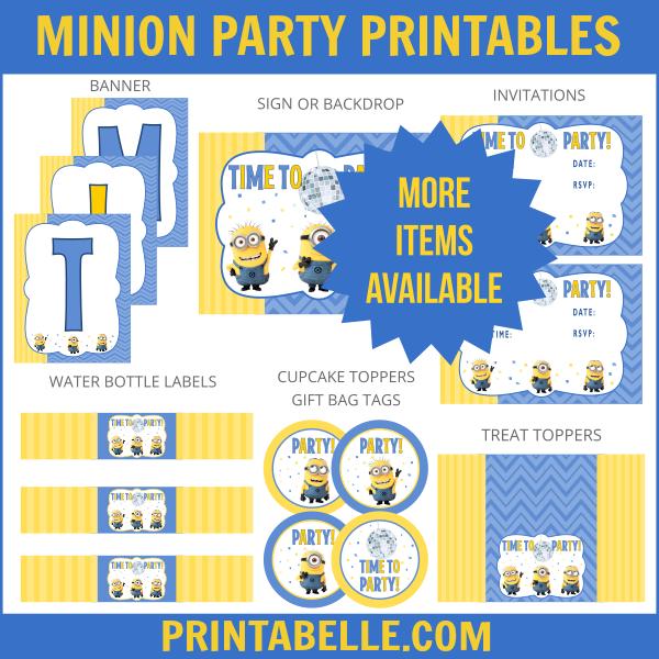 Minion Party Printables