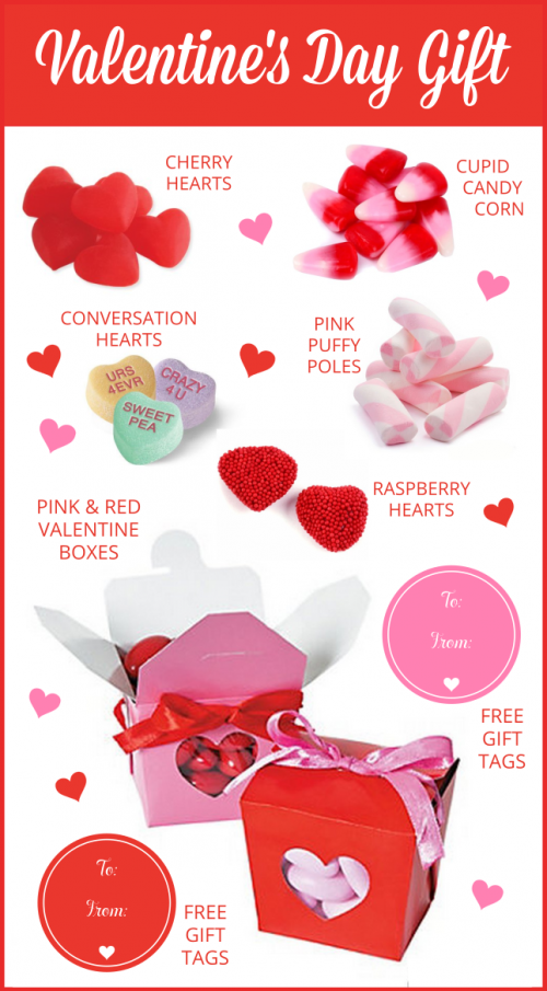 Valentine's Candy Gift, plus Free Gift Tags