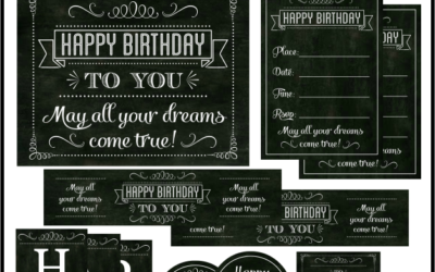 Chalkboard Birthday Party Printables