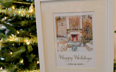 Christmas Watercolor Card or Print — FREE!