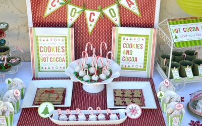 Cookies and Cocoa Party Printables