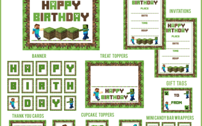 Minecraft Party Printables