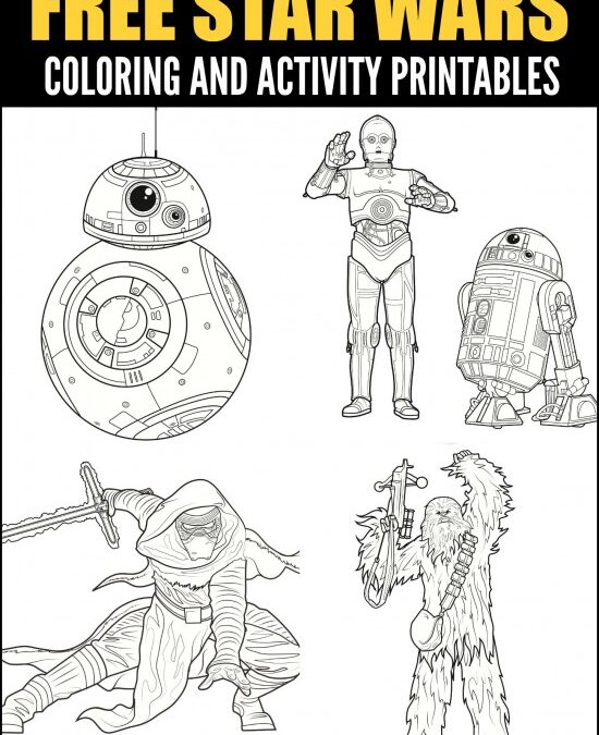 Printable Star Wars Activity Pages