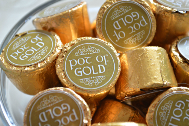 """Free St. Patrick's Day """"Pot of Gold""""Rolo and Kiss Labels"""