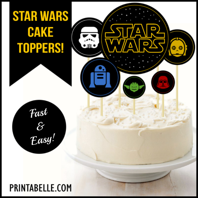 Star Wars Cake Toppers Printable