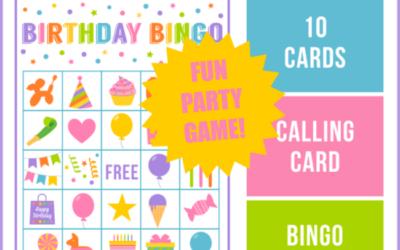 Birthday Bingo Game