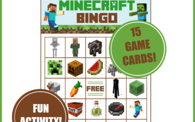 Minecraft Bingo Game – Printable Deluxe Pack
