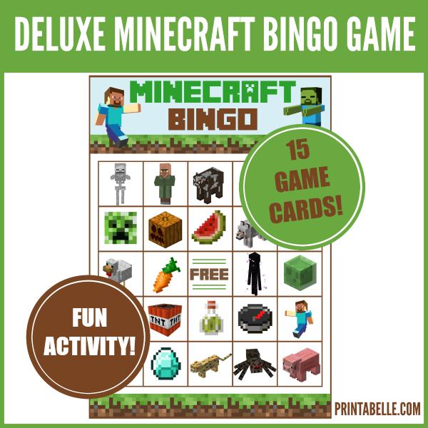 Minecraft Bingo Printable Game