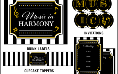 Music Party Printables