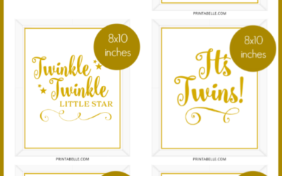 Baby Shower Printable Signs
