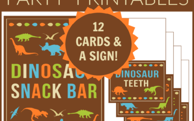 Dinosaur Party Printable Food Cards