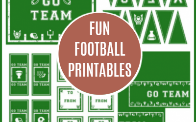 Football Party Printables (Great for Tailgating!)