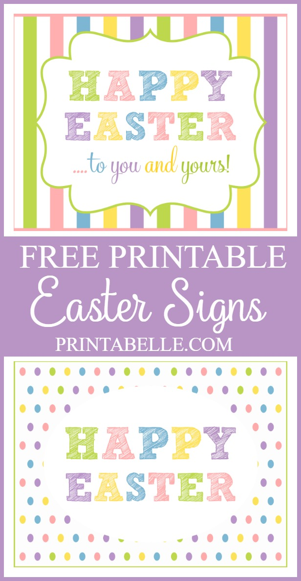 Free Easter Signs Printables