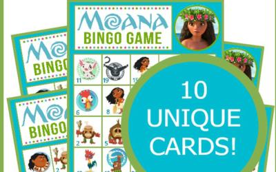 Moana Bingo Game