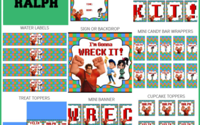 Wreck It Ralph Party Printables