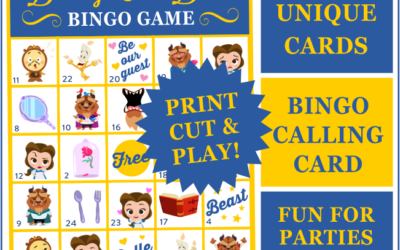 Beauty & the Beast Bingo Game