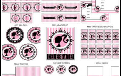 Retro Barbie Party Printables