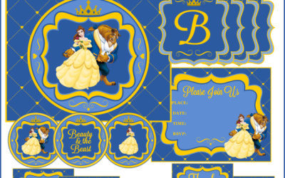 Beauty & the Beast Party Printables