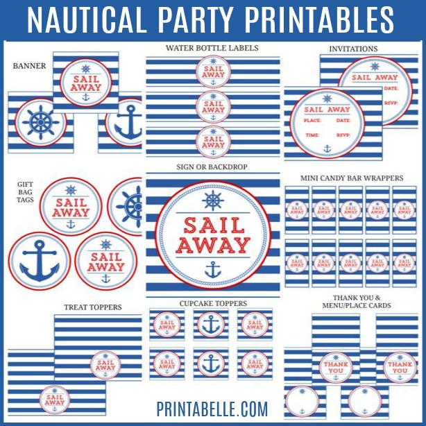 Nautical Party Printables