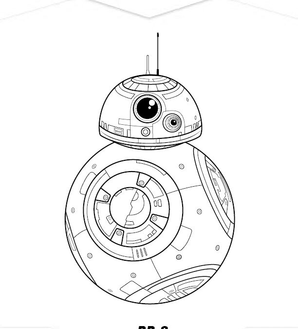 Free Star Wars BB-8 Coloring Page