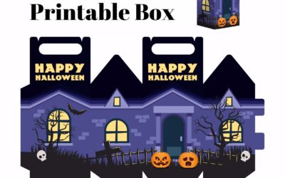 Free Haunted Halloween House Printable Box
