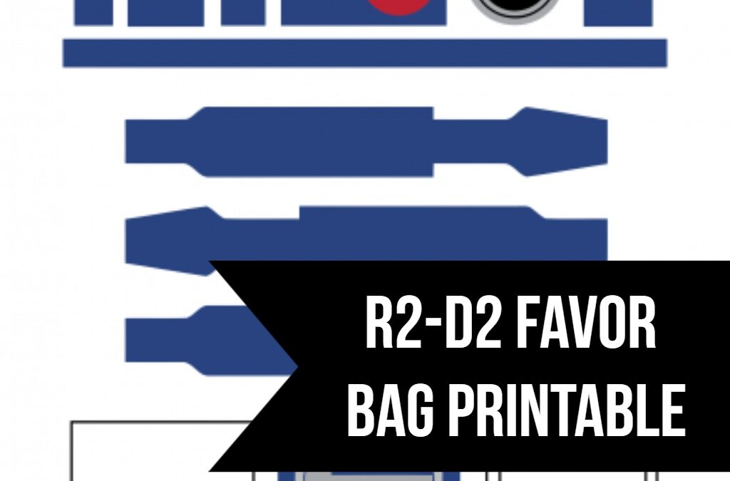Star Wars R2-D2 Favor Bag Printable