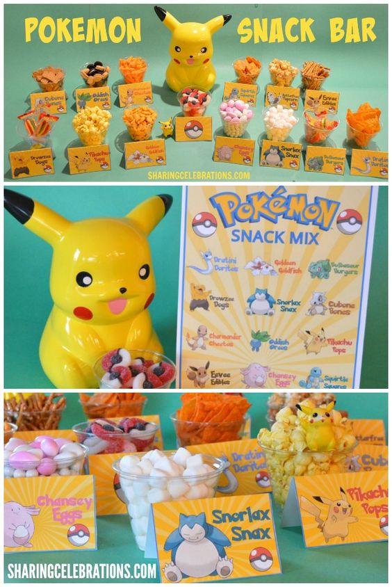 Pokemon Food Cards Printables