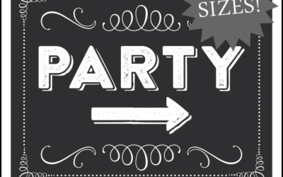 PARTY Sign Printable