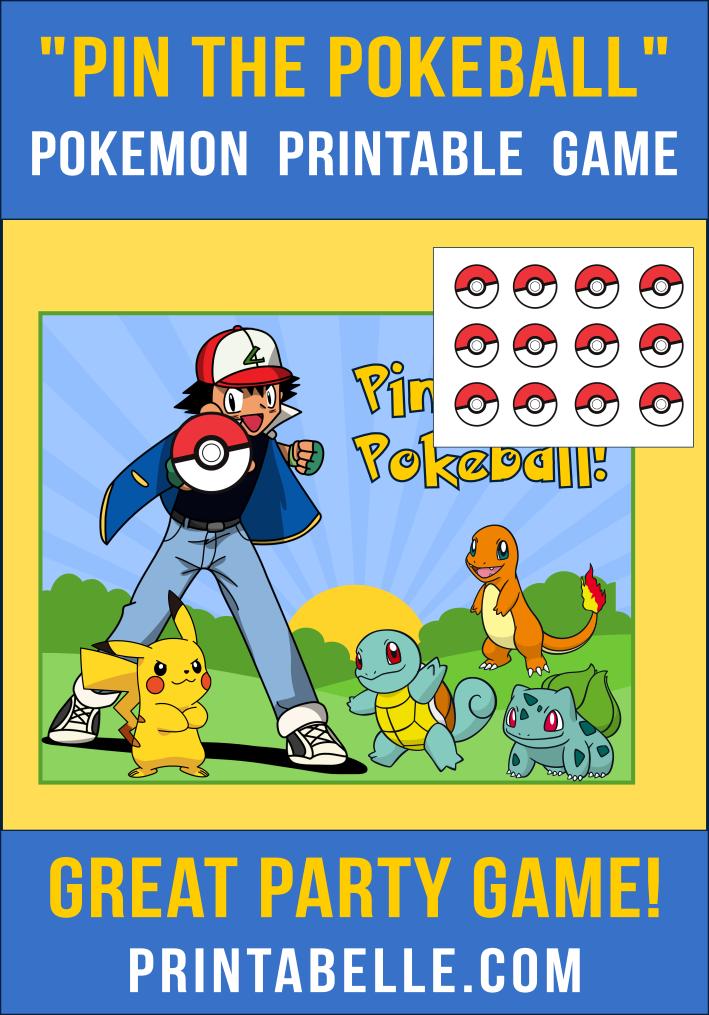 Pin the Pokeball Printable Game