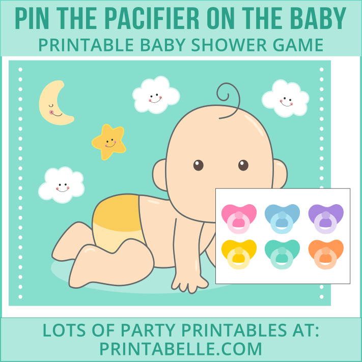 Pin the Pacifier Baby Shower Printable Game