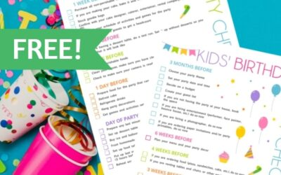 Party Planning Checklist Printable – FREE!