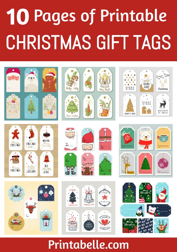FREE Christmas Gift Tags – 10 Pages!