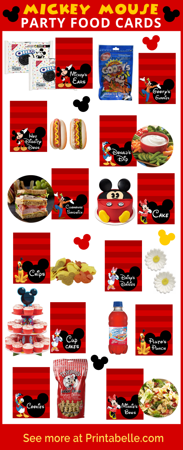 Mickey Mouse Clubhouse Party Food Ideas & Printables